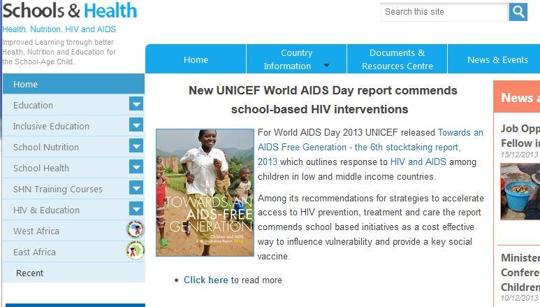 Schools & Health Website | The Communication Initiative Network