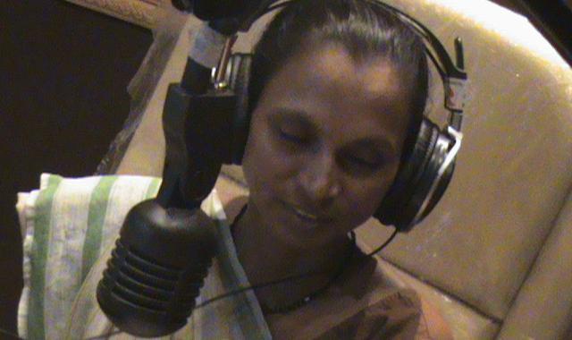 A woman radio broadcaster in Gujarat, India