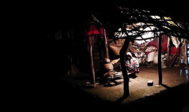 A traditional kitchen in a Bangladeshi village.