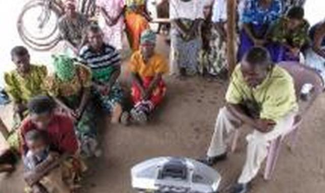 A PLHA support group in Chiradzulu district, southern Malawi, listens to Chenich