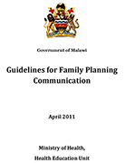 Malawi – Guidelines for Family Planning Communication